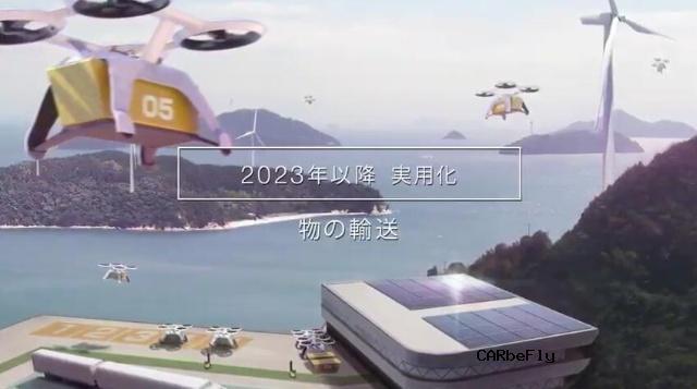 """日本""""空中飞行汽车""""明年试飞 五年内实用化"""