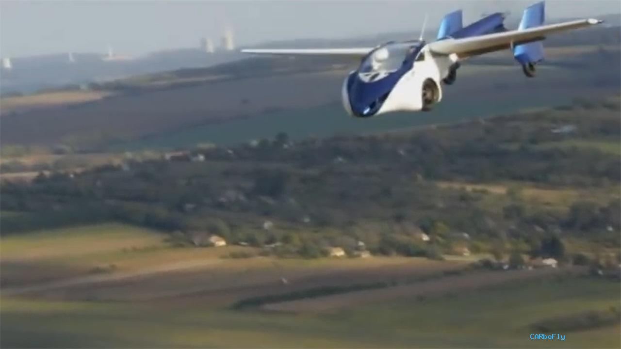 老外发明飞行汽车,陆空模式可以转换