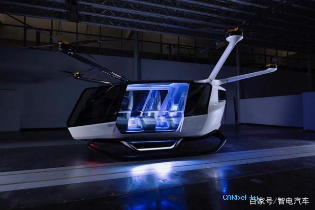 氢燃料电池飞行汽车,飞行续航650公里,乘坐5人配备降落伞